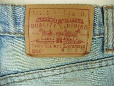 Vintage 505 Levis Jeans Sz 31X30 Very Worn Regular Fit Straight Leg Canada Made