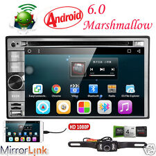 """GPS Navi Android 6.0 4G WIFI 6.2""""Double 2 DIN Car Radio Stereo DVD Player+Camera"""