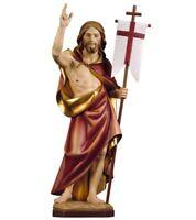 Statue Der Auferstehung Von Christus CM 23 Geschnitzt IN Holz Der IN Gröden