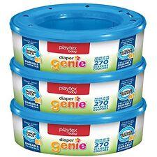 3 Pack Bathing Skin Care Playtex Diaper Pails Genie Odor Lock Refills Baby Child