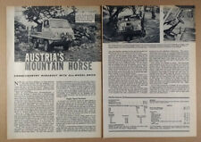 1964 Steyr-Puch Haflinger Road Test article clipping