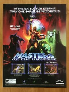 He-Man Defender of Grayskull Xbox GC Print Ad/Poster Masters of the Universe Art
