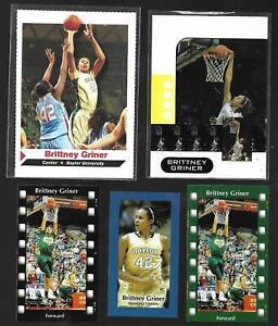 "5)RARE 2010 wnba BRITTNEY GRINER Rookie's,""Diamond""All Sport/Reel Stars/Showcase"