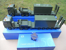 CONRAD MAN TGA + MB ACTROS + CONTAINERS + LOGO CONRAD OFFERT MINT IN BOX