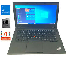 "Lenovo ThinkPad L440 Webcam 14"" HD Business Notebook 4GB Ram 120GB SSD Win10 Pro"