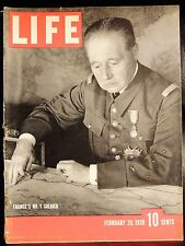 Life February 20,1939 France's No.1 Soldier / Barcelona Falls / Television