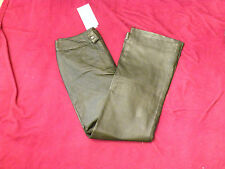 "Metro Style Black Leather Motorcycle Riding Pants-Size 12-30.5"" inseam- NWT-EB40"