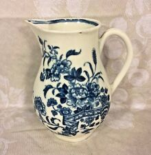 Ant Dr Wall Worcester Miniature Creamer Pitcher Circa 1780 Nice Blue Detailing