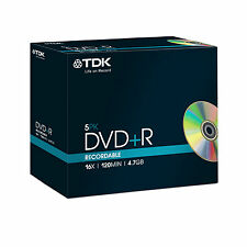 TDK DVD R 4 7gb 16x 5er JEWEL Case