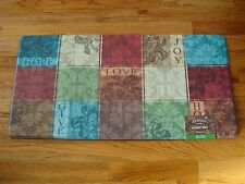 Anti Fatigue Chef Gear Kitchen Floor Mat Rug 20x39  Hope LOVE Joy GIVE Floral!