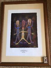 Leanne Reid Wanjidari (1966) Aboriginal Ltd Ed Print Signed Three Make Dancers