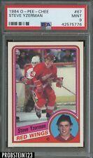 "1984 O-Pee-Chee OPC Hockey #67 Steve Yzerman RC Rookie HOF PSA 9 "" PRISTINE """