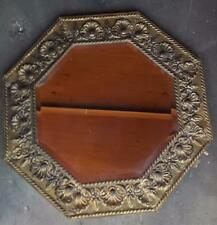 Antique Wooden Framed Mirror - Molded Aluminum Front  BEAUTIFULLY BEVELED MIRROR