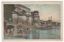 Genga Mehal Ghat Benares India 1910s postcard