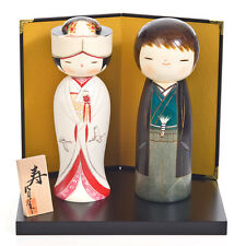 Happy Wedding Authentic Kokeshi Doll Set