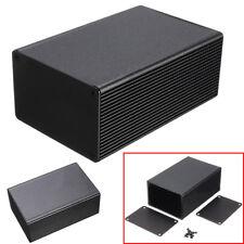 100x66x43mm Aluminum Electronic Box Instrument Meter Enclosure Case DIY Black