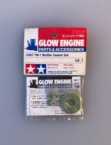 Rare, Tamiya TM-1 Muffler Gasket Set (#41007), TR-15T, TGX Mk.1