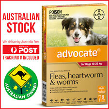Advocate for Medium to Large Dogs Red 10-25kg 6 Pack Fleas Worms Lice Mange
