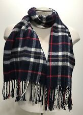 Vintage Knitted Plaid Men Wrap/scarf