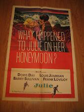 What happened to Julie on her honeymoon Orig, 1sh Movie Poster '56 Doris Day