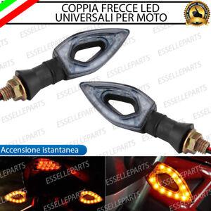 COPPIA FRECCE MOTO LED ARANCIONE AMBRA UNIVERSALI 12v ACCENSIONE IMMEDIATA