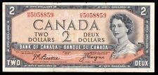 1954 Bank of Canada $2 Devil Face - Fine/VF - Beattie Coyne - H/B 5058859  CB66