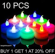 10x cambia de color LED Velas Pequeñas Velas de pilas fiesta decoración velas