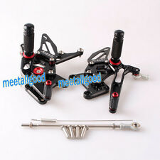 CNC Rearsets Rear set Footpegs For Triumph Speed Triple 1050 2005 - 2010 Black