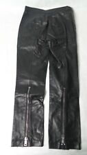 ALEXANDER McQUEEN Black Leather Biker Pants/Size 38/Made in Italy