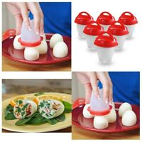 Silicone egg boiler Hard boil Egglettes Eggies Separator without shell pack of 6