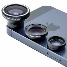 3 in1 Fisheye Len Wide Angle Macro Camera Lens for iPhone Samsung US SHIPPING