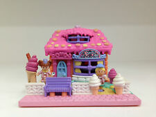 POLLY POCKET Vintage 1995 Strawberry Ice Cream Parlour **RARE & COMPLETE**