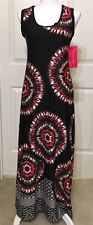 NWT Sunny Leigh size S black berry green sleeveless geometric maxi dress women's