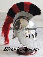 Greek Corinthian Helmet Adult Man Renaissance Halloween Reenactment Costume LO98