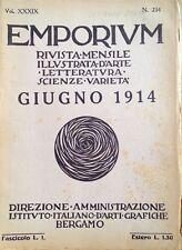 § EMPORIUM N.234, GIUGNO 1914 - F. CARENA, IL BOROBUDUR DI GIAVA, VENARIA REALE