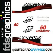 Mercury 50hp four stroke outboard decals/sticker kit