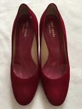 Kate Spade Red Suede Leather Wedges Size 6 (Shoes)