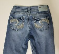 Silver Jeans Co. Suki Mid Capri Cropped Women's Size 25 Light Wash Stretch