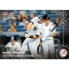 2016 Topps Now  #317 Mark Teixeira Retirement New York Yankees  Print Run: 302