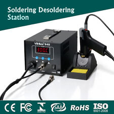 220V LED Digital Soldering Iron Solder Rework Desoldering Station Hot Air  AU !