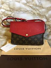 Authentic Louis Vuitton Cerises Red Monogram Twice Twinset Crossbody Purse