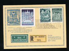 Christkindl-Reco Karte 24.12.1968 mit Vignette   (CH12)