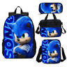 Sonic The Hedgehog Movie Backpacks Insulated Lunchbox Shoulder Bags Pen Case Lot
