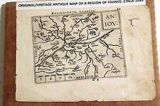 Antique Original Abraham Ortelius Map ANDEGAVENSIS (Region in Anjou) circa 1593