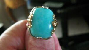 NWOT GEMS EN VOGUE AMAZONITE, RUBIES & CHROME DIOPSIDE TWO TONE 925 RING, SIZE 8