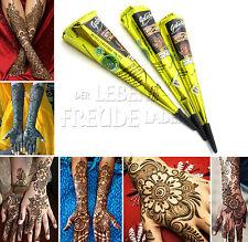 3 x Golecha pâte de henné Cône noir á 25g Mehendi Tatouage Testé cliniquement