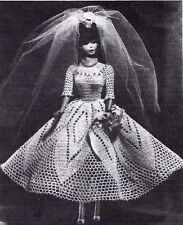 SWEET TEEN BRIDE Crochet Pattern DOLLS like Barbie WEDDING GOWN COPY