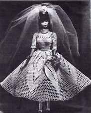 SWEET TEEN BRIDE Crochet Pattern DOLLS like Barbie WEDDING GOWN Copy