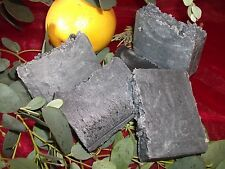 LUXURY DETOXIFYING 100% NATURAL SOLID SHAMPOO WITH ACTIVATED CHARCOAL AND HONEY