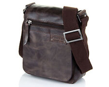New Spain Shoulder Shiny Brown Man Vintage Style Bag Youth small size handy mobi